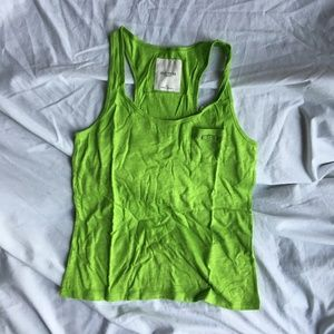 NWT Gilly Hick Green Tank Top With Small Pocket